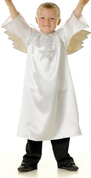 Children's Kids Boys Girls Angel Gabriel Nativity Play Dress Up Costume Outfit
